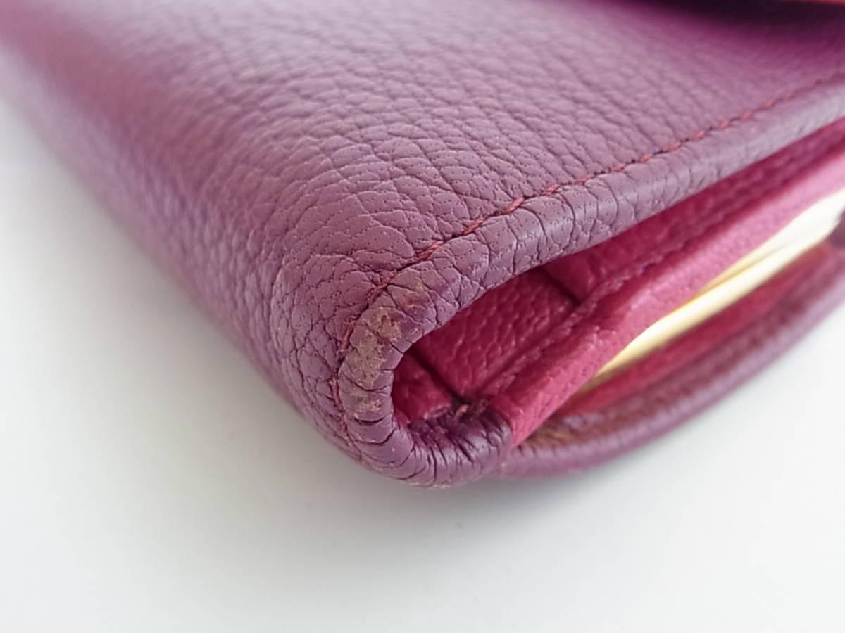 ミュウミュウ 三つ折り財布 がま口 コンパクト財布 紫 ピンク_画像4