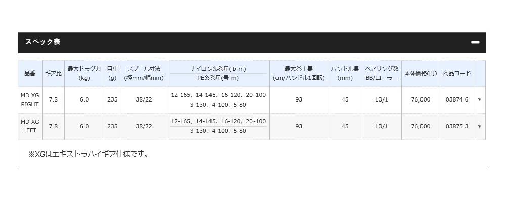 【新品】シマノ アンタレス DC MD XG 左 リール_画像9