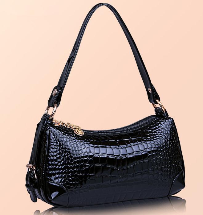 新しいクロコダイルパターンファッションパテントレザーバッグ 高級品