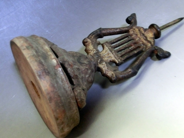 燭台■ローソク立て キャンドルスタンド 古い鉄製蝋燭立て 置物 古民具 古道具 古美術 時代物 骨董品■_画像5