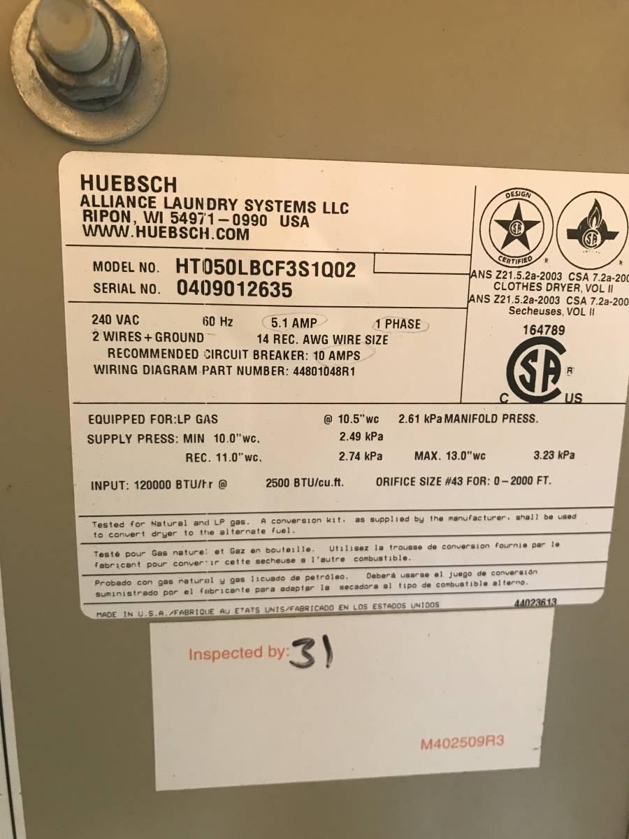 ヒユービツシユ23キロ60ヘルツLPガス乾燥機極上品25万円_画像5