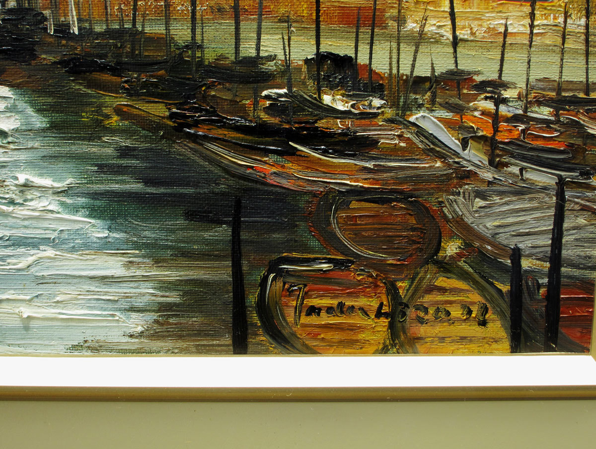 中谷 忠弘 「船のある風景」 油彩 真作保証 F4号_画像2