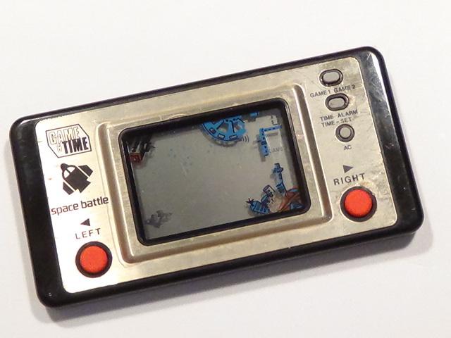GAME & TIME スペースバトル spase battle Matsushima 日本製 レトロ ゲーム lsi lcd おもちゃ 原田企画 希少 電子ゲーム 動作品_画像2