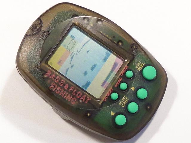 バンダイ マメブルッ! BASS&FLOAT FISHING 1997 レトロ ゲーム 液晶 lsi lcd フィッシング 釣り バス フロート リアル 振動 おもちゃ 2_画像2