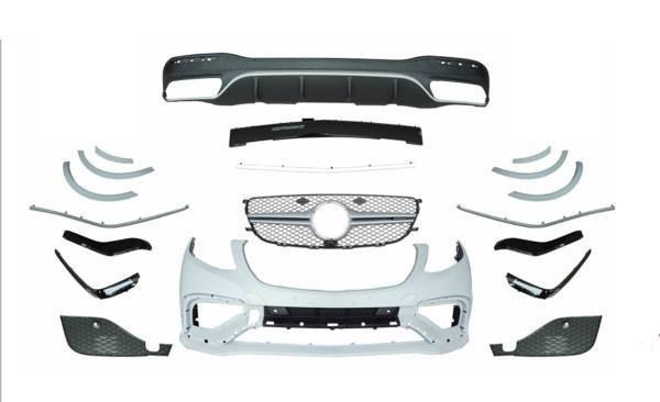 ●メルセデスベンツ W166 GLE用 GLE63AMG ウレタン製バンパーフルセット/PP/フロントバンパ/リアバンパー/グリル/GLE43/GLE350/最安挑戦_画像2