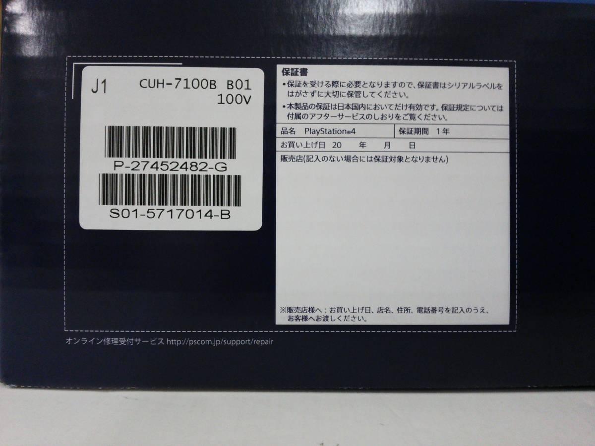 Sdd29 Unused Sony Playstation 4 Pro Playstation4 Jet Black 1tb Cuh