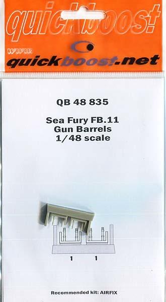 クイックブースト 48835 1/48 シーフューリーFB.11 砲身(エアフィックス用)_画像1