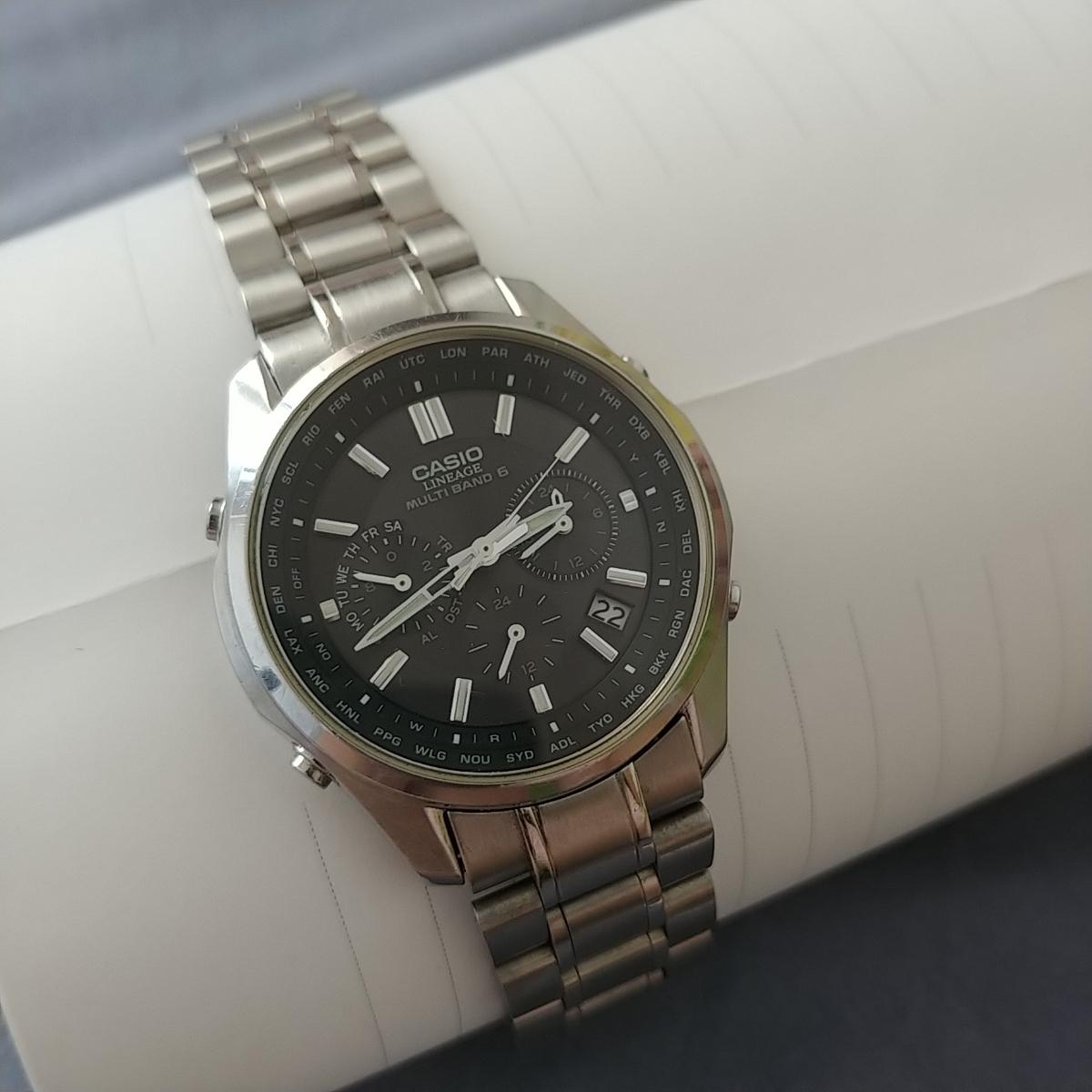 29743ec39d 1円~カシオ CASIO リニエージ LIW-M610 電波 ソーラー メンズ 腕時計 CASIO LINEAGE