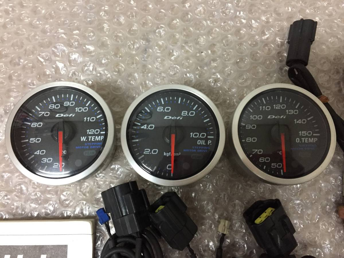 ☆美品☆ 日本精機 defi デフィー 52Φ 水温計 油温計 油圧計 JZA80 FD3S BNR32 BCNR33 BNR34 ZN6 ZC6 JZX100 JZX90 JZZ30 S14 S15 JZX110_画像3