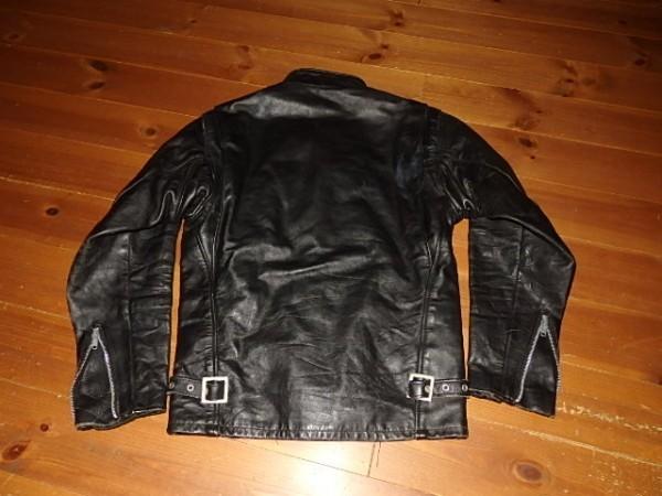 Schott641シングルライダースJKT 黒 34