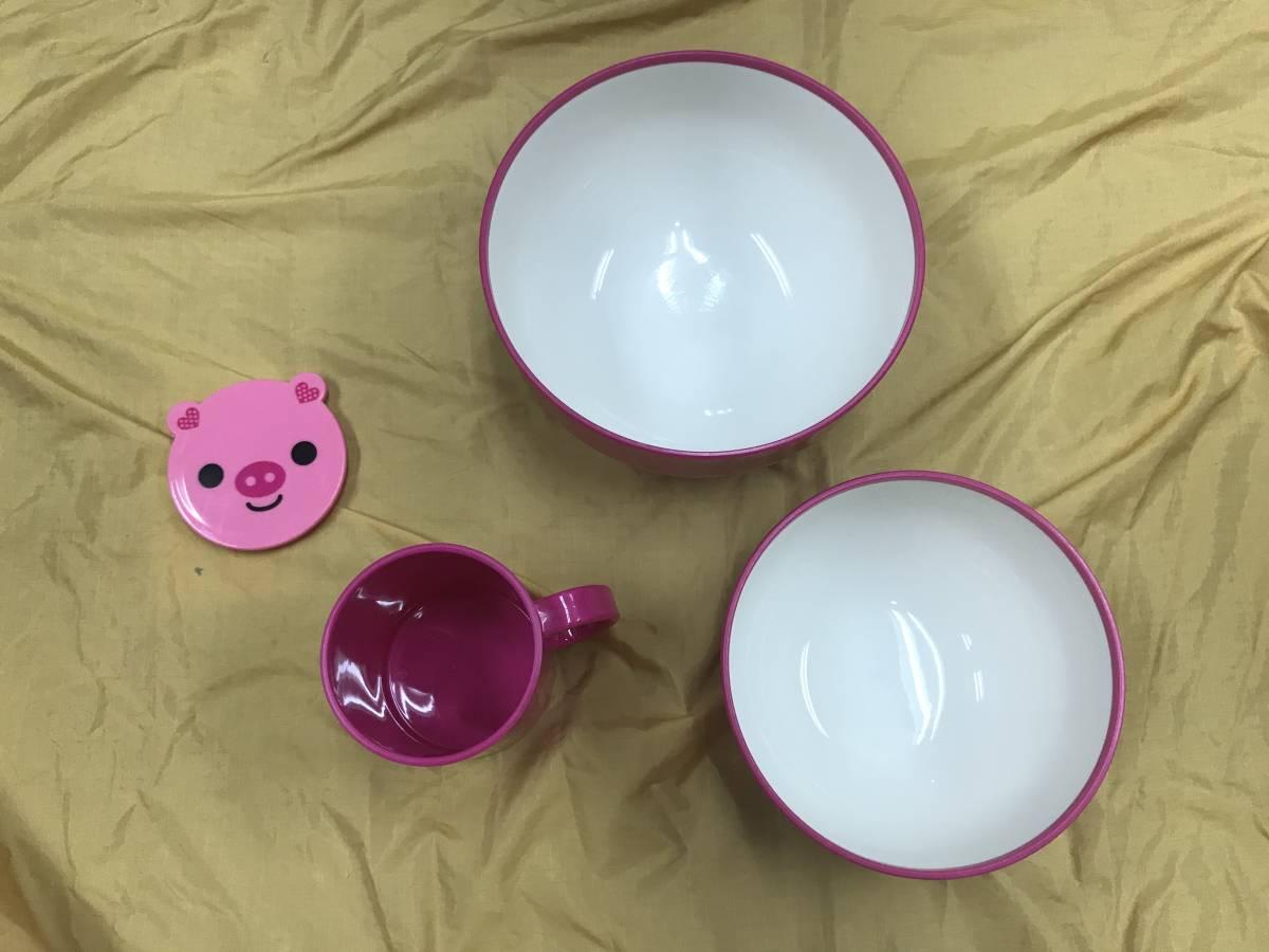 ピクニック キャンプ アウトドア プラ製の食器セット USED 美品_画像3