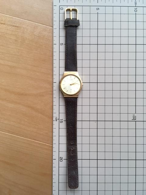 K817 稀少 レア ヴィンテージ CITIZEN/シチズン CQ 3針 ゴールド6031 G05220K クオーツ メンズ 腕時計_画像6