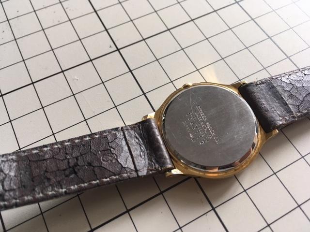 K817 稀少 レア ヴィンテージ CITIZEN/シチズン CQ 3針 ゴールド6031 G05220K クオーツ メンズ 腕時計_画像5