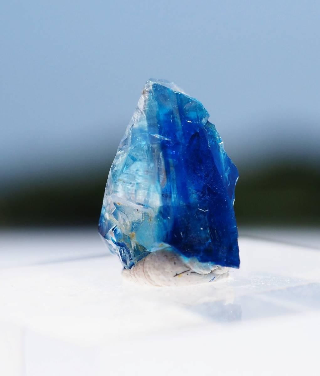 宝石質 ジンバブエ産 ユークレース ハイグレード 深く透明なブルーライン_画像3