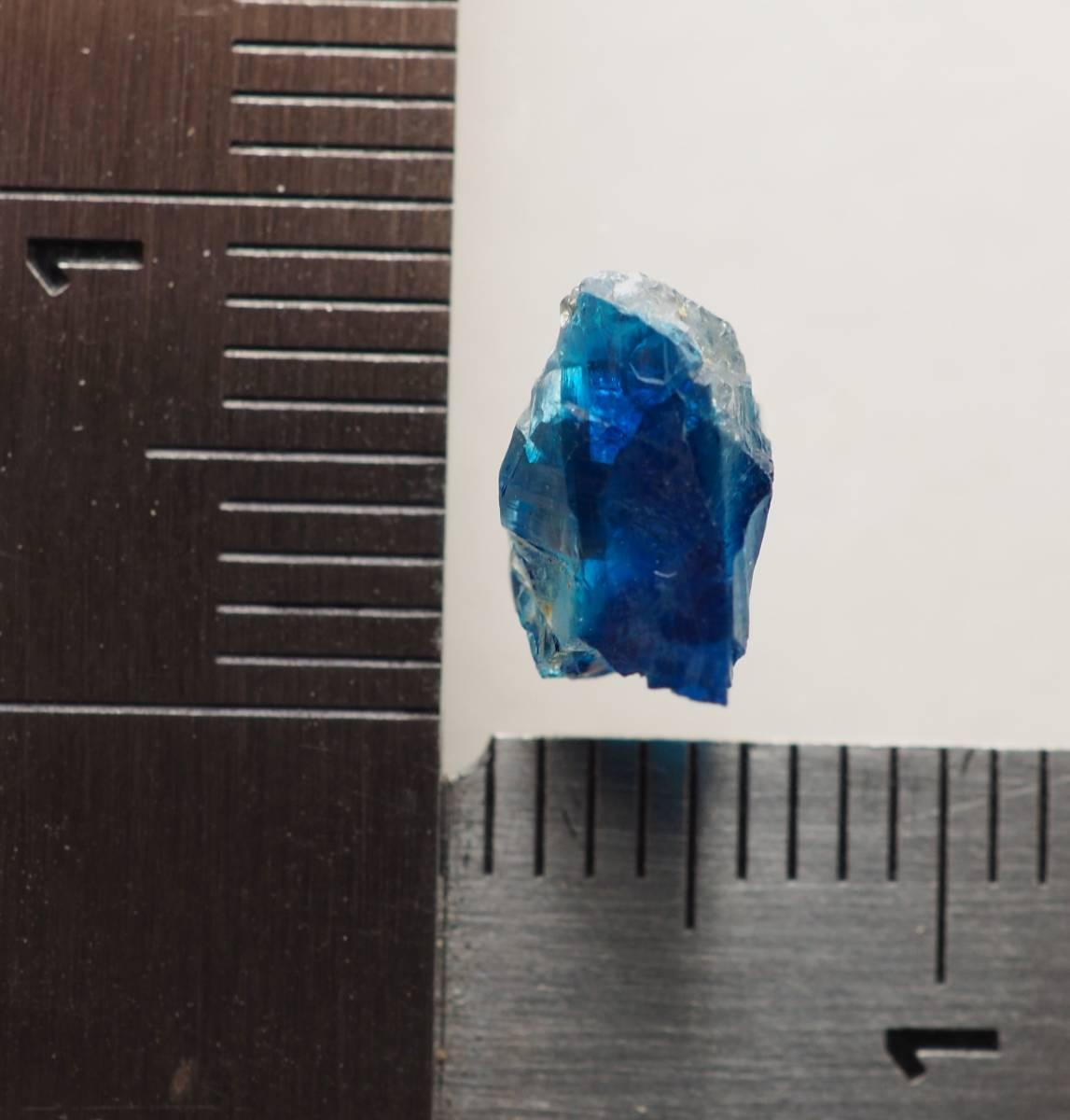 宝石質 ジンバブエ産 ユークレース ハイグレード 深く透明なブルーライン_画像10