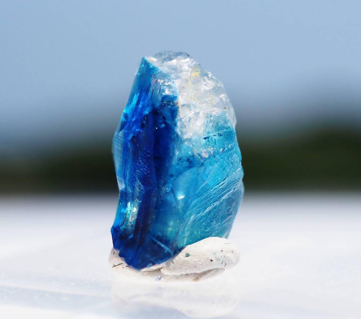 宝石質 ジンバブエ産 ユークレース ハイグレード 深く透明なブルーライン_画像6