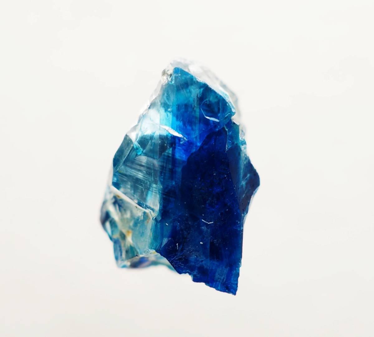 宝石質 ジンバブエ産 ユークレース ハイグレード 深く透明なブルーライン_画像8