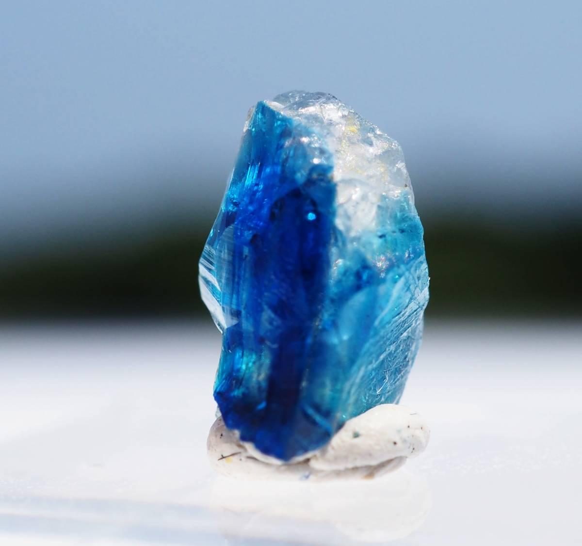 宝石質 ジンバブエ産 ユークレース ハイグレード 深く透明なブルーライン_画像7