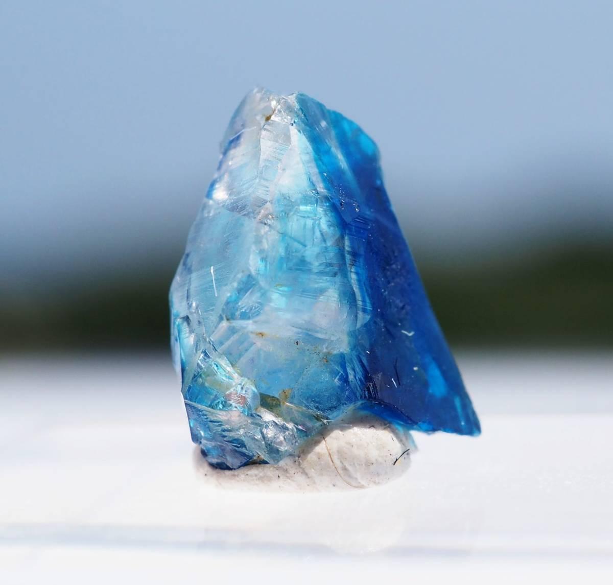 宝石質 ジンバブエ産 ユークレース ハイグレード 深く透明なブルーライン_画像4