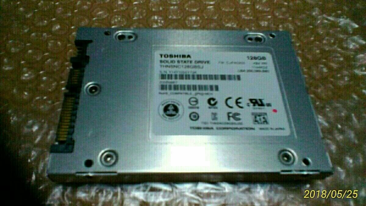 リファビッシュ品 東芝120GBSSDドライブ 1年間保証付 クリックポスト可