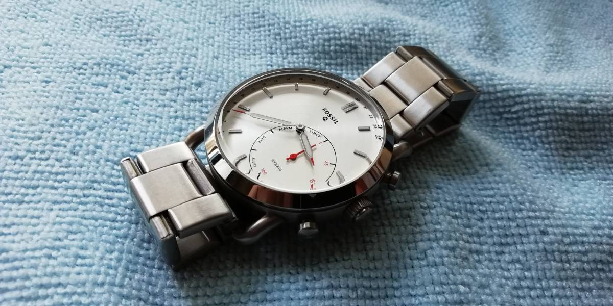 Fossil Hybrid Smartwatch Q Commuter Stainless Steel Ftw1153 Used