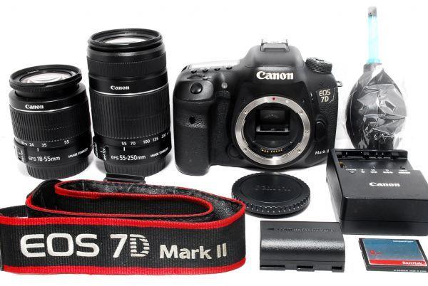 APS-C機の超越!!Canon キャノン EOS 7D Mark II 純正手振れ補正Wレンズセット