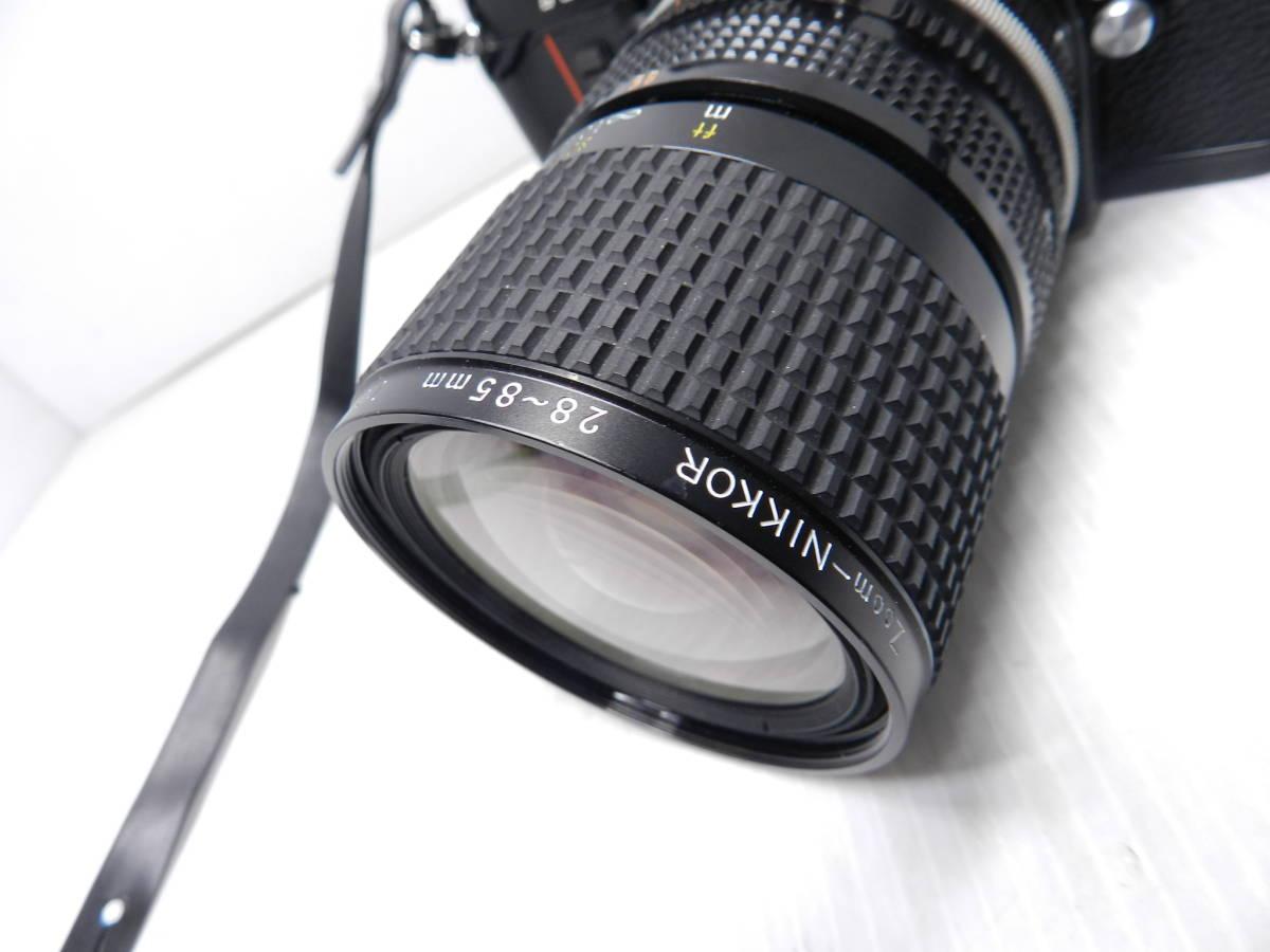 動作品!!/NIKON ニコン/F3 ボディ/レンズ ZOOM NIKKOR 28-85mm f3.5-4.5 Ai-S/MF 一眼レフカメラ/プリズム綺麗/取説付属!!/管C831_画像3