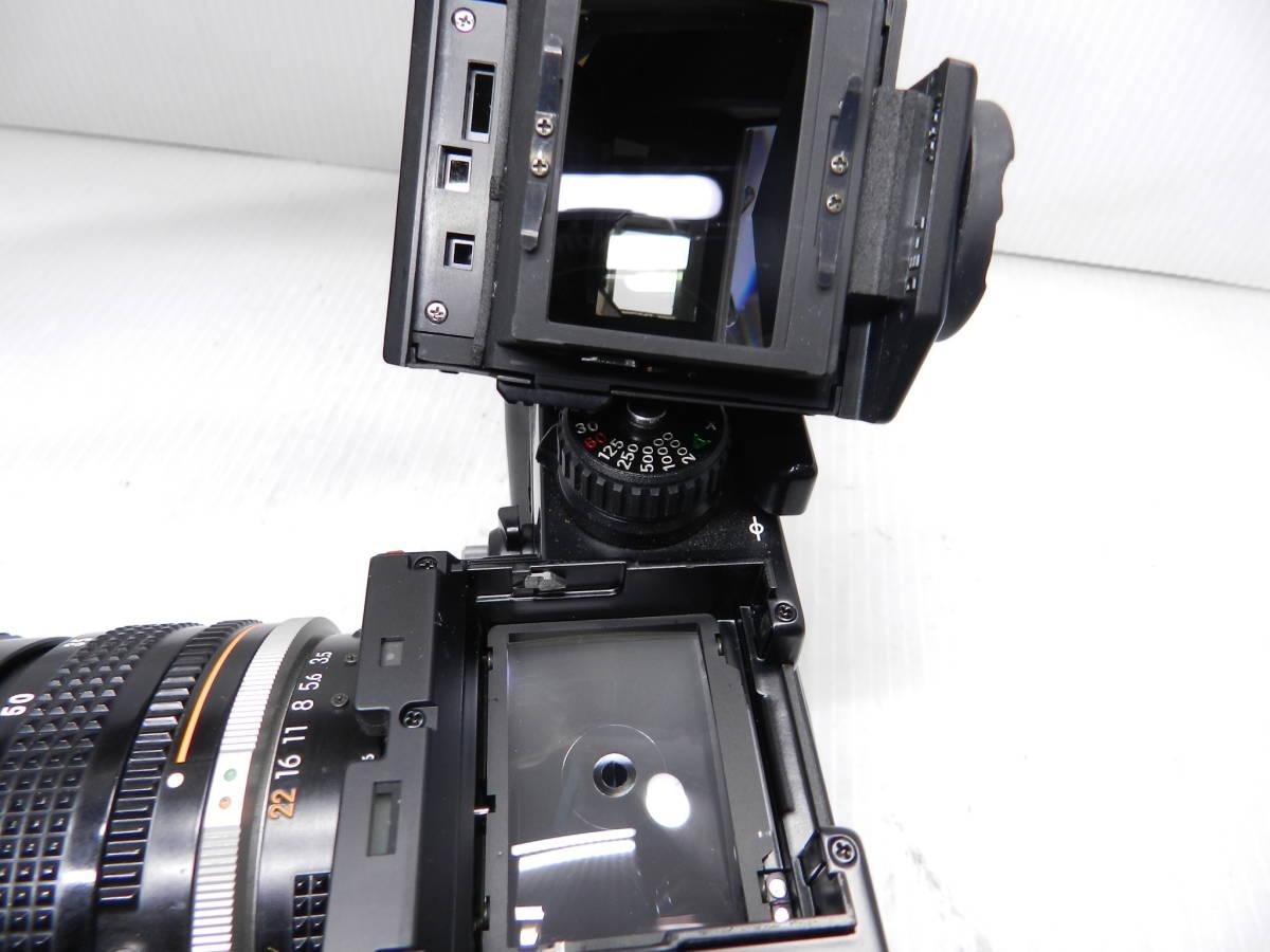 動作品!!/NIKON ニコン/F3 ボディ/レンズ ZOOM NIKKOR 28-85mm f3.5-4.5 Ai-S/MF 一眼レフカメラ/プリズム綺麗/取説付属!!/管C831_画像9