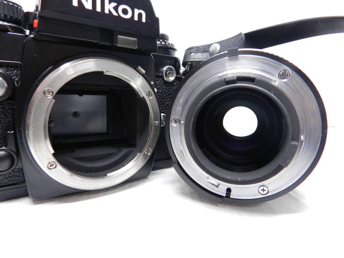動作品!!/NIKON ニコン/F3 ボディ/レンズ ZOOM NIKKOR 28-85mm f3.5-4.5 Ai-S/MF 一眼レフカメラ/プリズム綺麗/取説付属!!/管C831_画像5