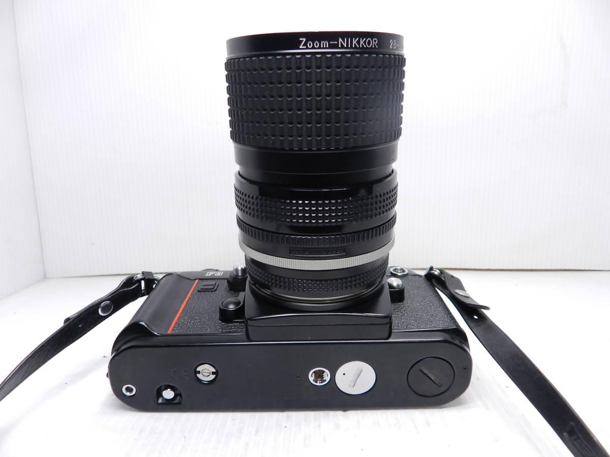 動作品!!/NIKON ニコン/F3 ボディ/レンズ ZOOM NIKKOR 28-85mm f3.5-4.5 Ai-S/MF 一眼レフカメラ/プリズム綺麗/取説付属!!/管C831_画像7