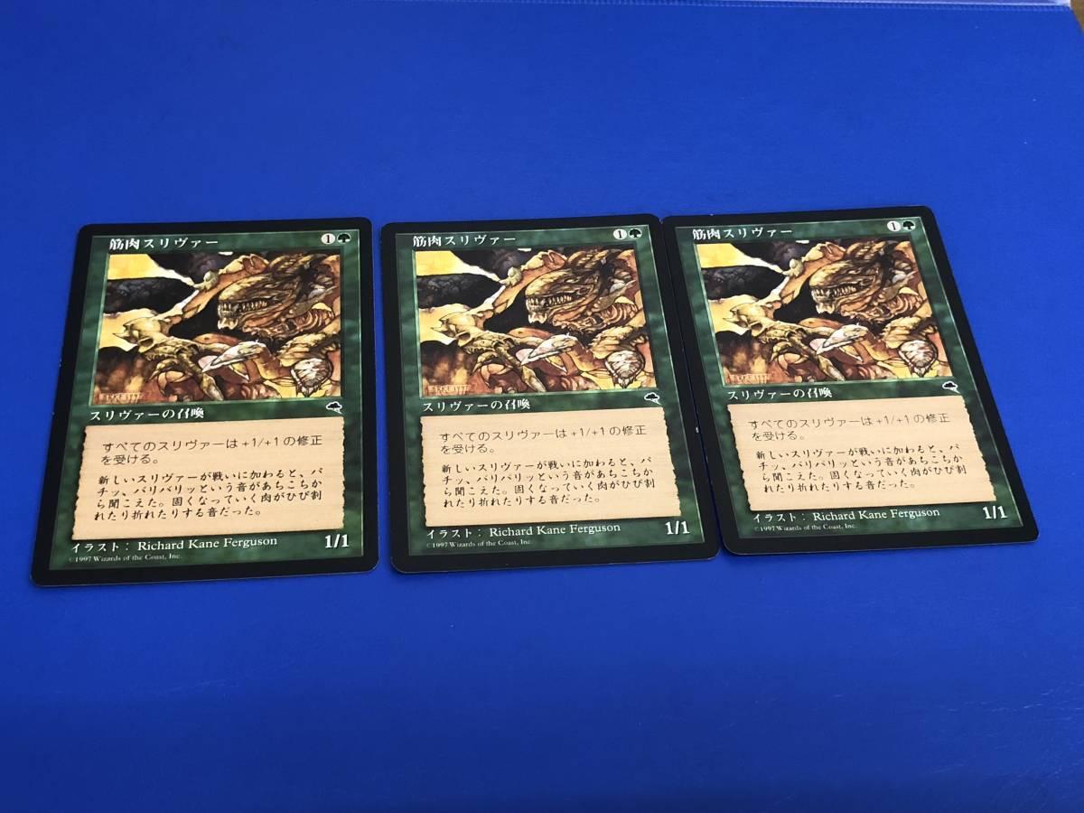 Magic: The Gathering MTG テンペスト TMP 筋肉スリヴァー/Muscle Sliver   日3枚(緑・MTG) T22_画像1