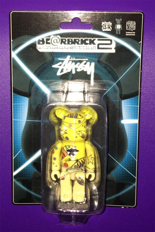 BE@RBRICK WORLD WIDE TOUR2 STUSSY ベアブリック BWWT2 100% 新品 MEDICOMTOY 2011年_画像1