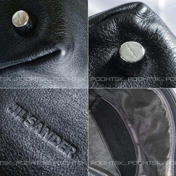 ジル サンダーJIL SANDERジオメトリック アシンメトリー オーバーサイズ ラージ シャープ クラッチ ハンド バッグ ブラック_画像6
