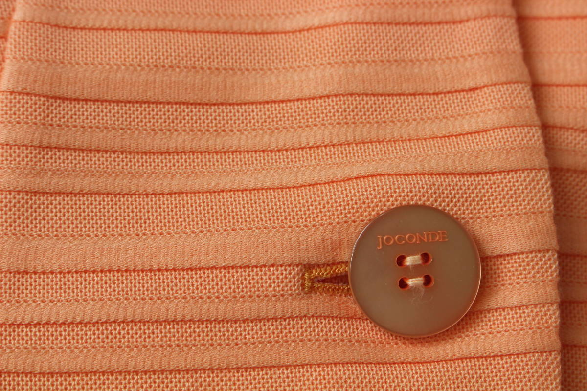 新品 5.2万円 MADAM JOCONDE マダムジョコンダ 38 ジャケット オレンジ 日本製 ラピーヌ 百貨店品_画像7