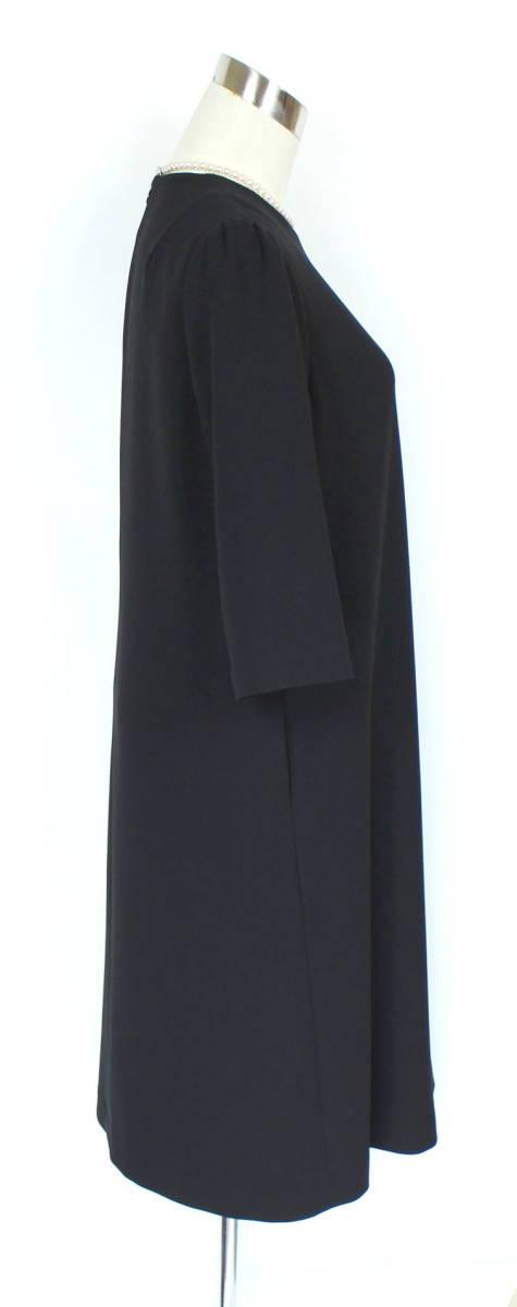 新品 5.7万円 9号 ミッシェルクラン アンサンブル ラピーヌ 卒業式 礼服 喪服 レディース 黒 スーツ ブラックフォーマル_画像7