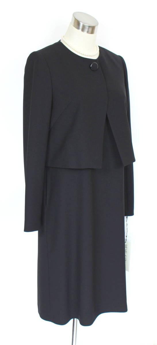 新品 5.7万円 9号 ミッシェルクラン アンサンブル ラピーヌ 卒業式 礼服 喪服 レディース 黒 スーツ ブラックフォーマル_画像2