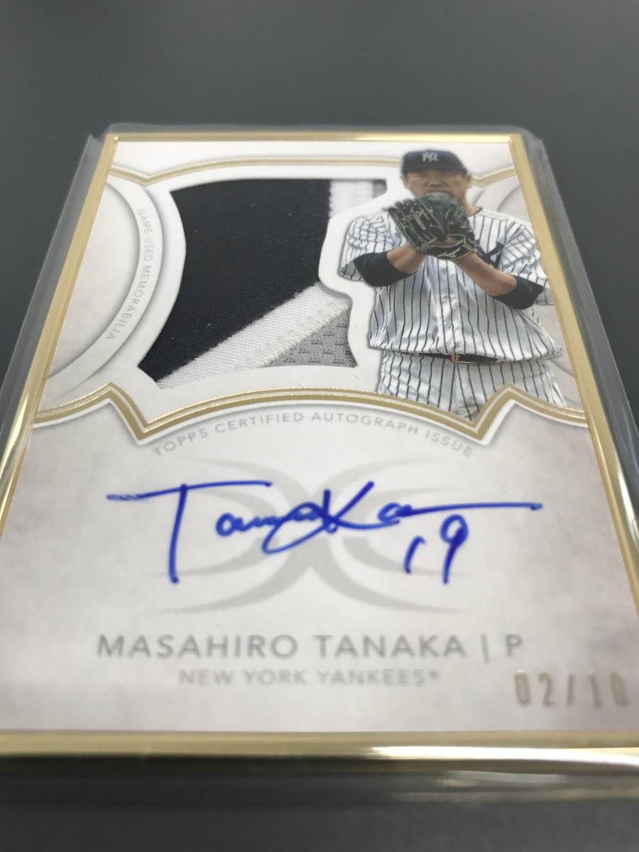 MLB 直筆サイン オート 田中将大(MASAHIRO TANAKA) NEW YORK YANKEES Topps PATCH AUTO 東北楽天ゴールデンイーグルス 10枚限定 ヤンキース_画像3