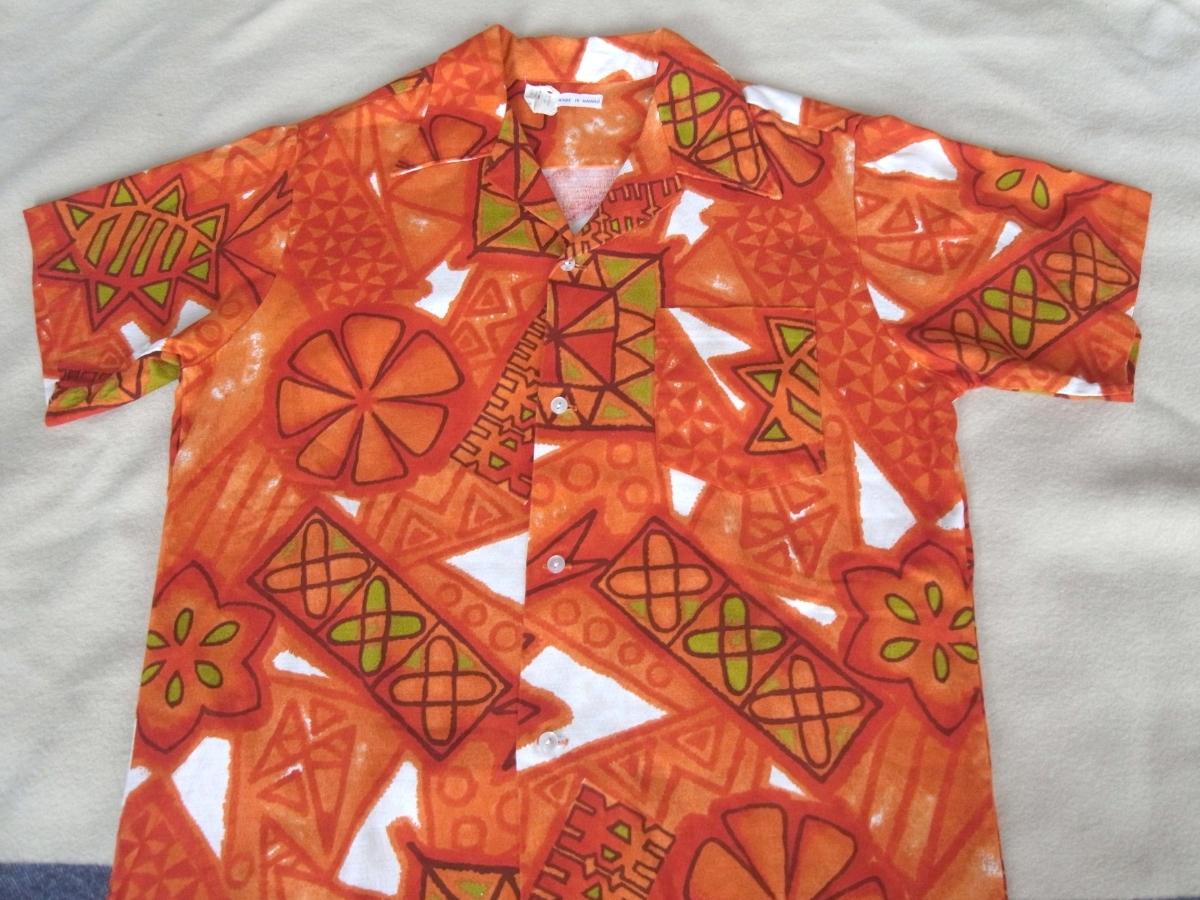 USAアメリカHawaii製 70s80sビンテージ MADE in HAWAII セルビッチ耳付 アロハシャツ★vintage ハワイアンSURF_画像6