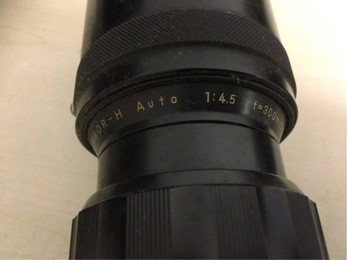 NIKON ニコン F カメラ 一眼レフ マニュアルフォーカス 1:1.4 f=50mm レンズ NIKKOR-H 1:4.5 f=300mm オートフォーカス AYO10_画像4