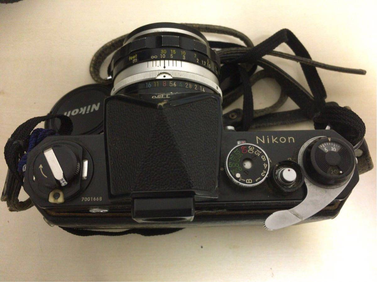 NIKON ニコン F カメラ 一眼レフ マニュアルフォーカス 1:1.4 f=50mm レンズ NIKKOR-H 1:4.5 f=300mm オートフォーカス AYO10_画像3