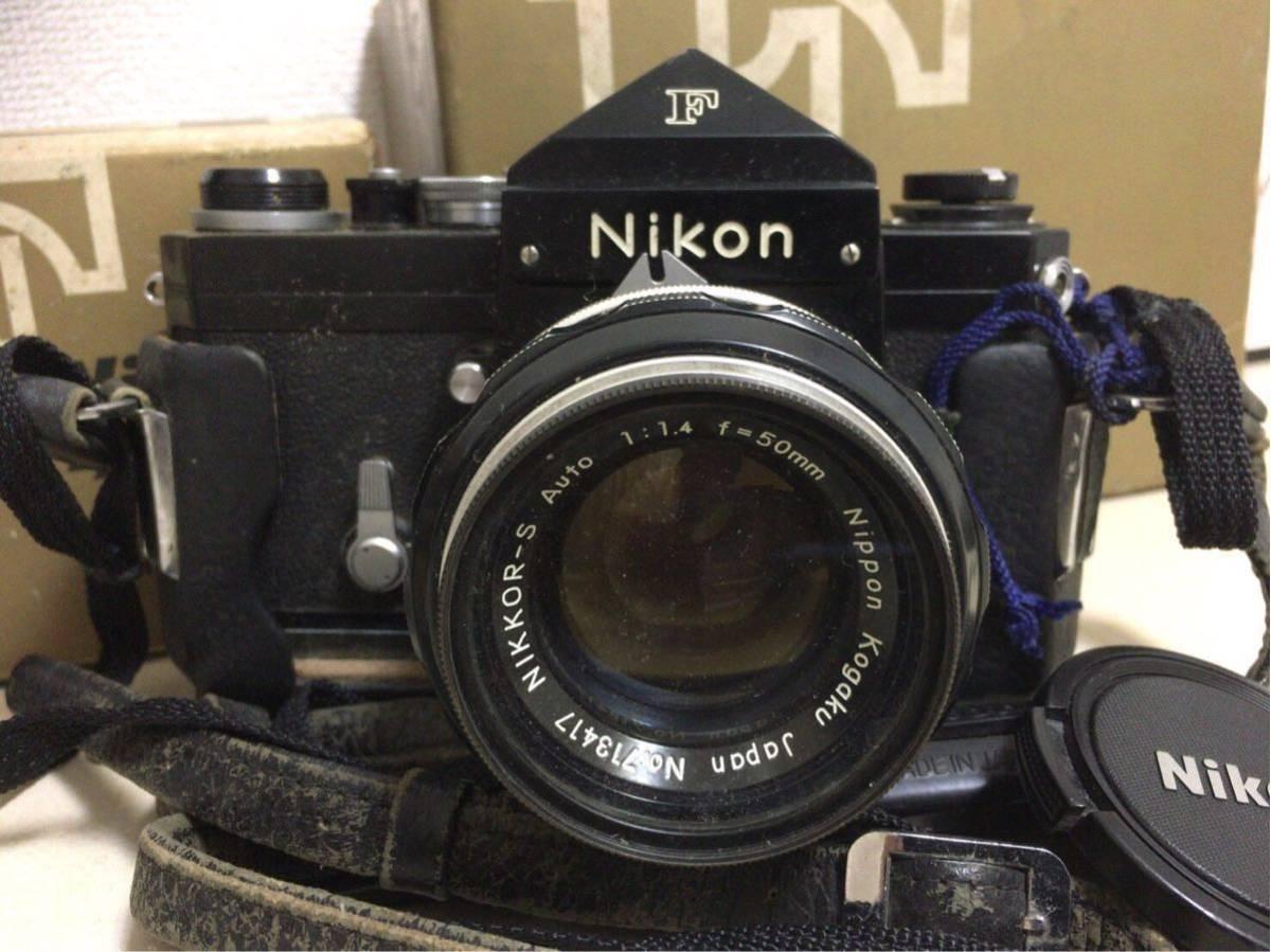 NIKON ニコン F カメラ 一眼レフ マニュアルフォーカス 1:1.4 f=50mm レンズ NIKKOR-H 1:4.5 f=300mm オートフォーカス AYO10_画像2