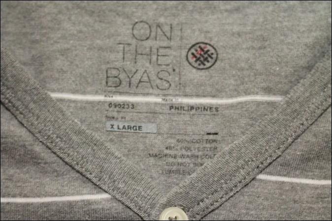 【X LARGE】 ON THE BYAS Vネック ボーダー Tシャツ ポケット ヘンリーネック ビンテージ ヴィンテージ USA 古着 オールド IB1054_画像4