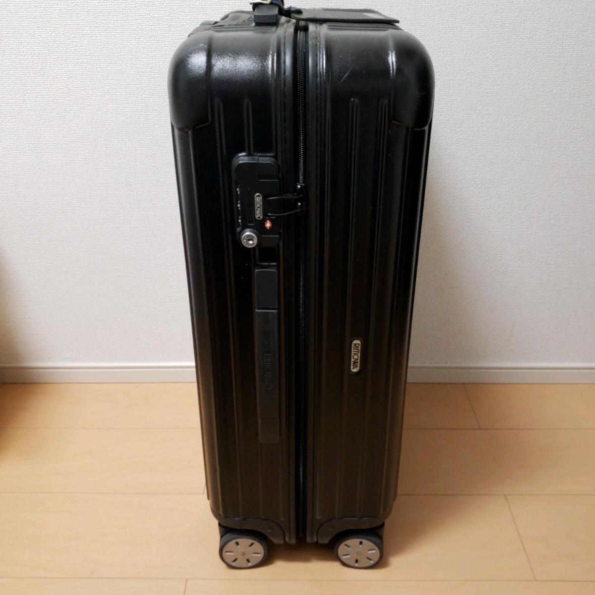 1円~オークション★【中古美品】RIMOWA/リモワ(TSAロック付) 4輪スーツケース サルサ ブラック 63L 廃盤
