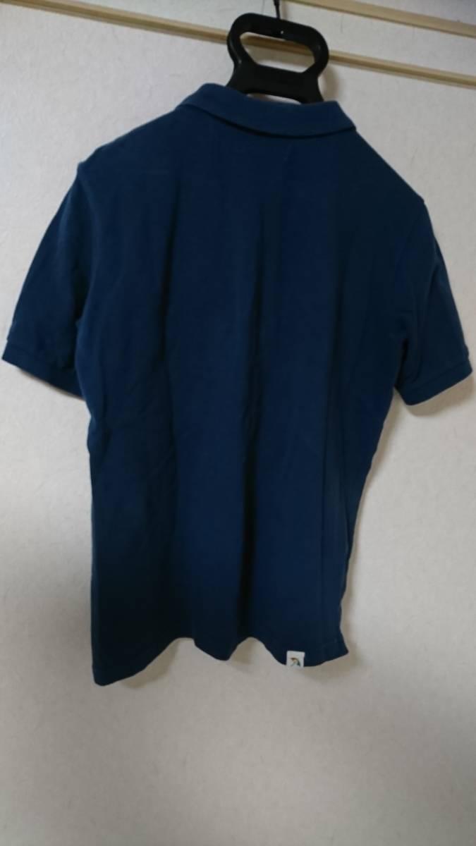 ☆アーノルドパーマー 男性用半袖ポロシャツ サイズ2(M相当)パラソル柄 珍しい色です。ダークブルー?青緑?☆_画像5