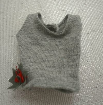 defect have BARBIE Barbie po in se Cheer manner with corsage tank top gray