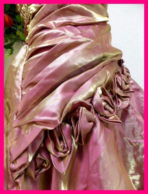 カラードレスM【美品】ピンクにゴールドがキラリ輝く! パーティドレス・キャバドレス・キャバ嬢アゲハ・パーティ・イベント・発表会等に_画像6