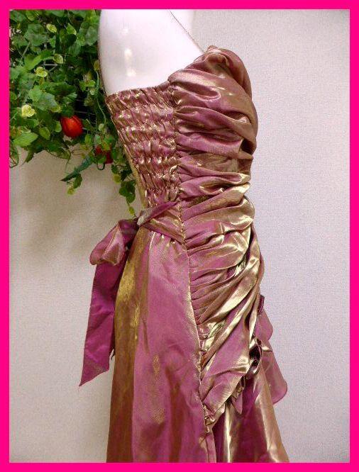 カラードレスM【美品】ピンクにゴールドがキラリ輝く! パーティドレス・キャバドレス・キャバ嬢アゲハ・パーティ・イベント・発表会等に_画像7