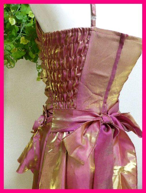 カラードレスM【美品】ピンクにゴールドがキラリ輝く! パーティドレス・キャバドレス・キャバ嬢アゲハ・パーティ・イベント・発表会等に_画像9