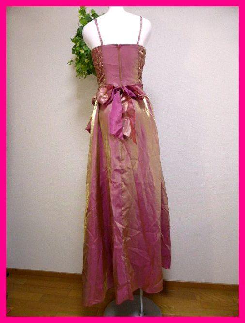 カラードレスM【美品】ピンクにゴールドがキラリ輝く! パーティドレス・キャバドレス・キャバ嬢アゲハ・パーティ・イベント・発表会等に_画像10