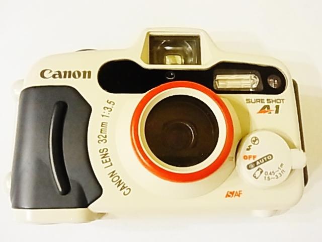 美品 動作確認済 防水フィルムカメラ Canon SURE SHOT A1 オートボーイ D5 35mmレンズシャッター式カメラ_画像1